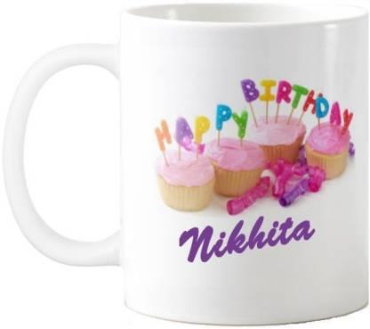Exoctic Silver Nikhita Happy Birthday Quotes 74 Ceramic Coffee Mug