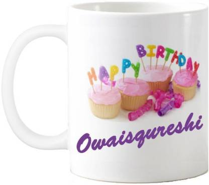 Exoctic Silver Owaisqureshi Happy Birthday Quotes 74 Ceramic Coffee Mug