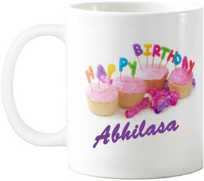 Exoctic Silver Abhilasa Happy Birthday Quotes 74 Ceramic Coffee Mug