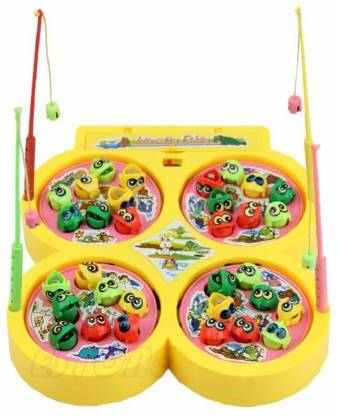 Luxula Battery operated Fish Caching Game for kid's Party & Fun Games Board Game