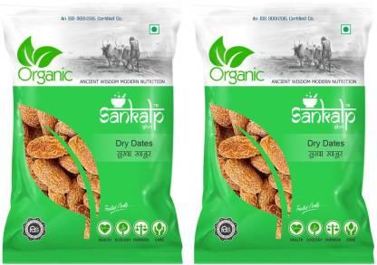 Sankalpshri Organic Yellow Dry Dates 250g (Pack of 2)   Peela Chuara  Peela Sukha Khajoor Dry Dates