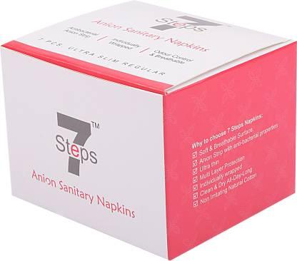 Seven Steps Menstrual Ultra Thin Regular Sanitary Napkins with Wings Sanitary Pad