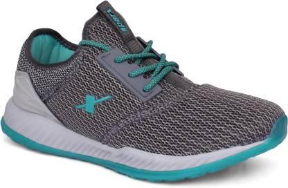 Sparx Men SM-399 Grey Mint Green Walking Shoes For Men