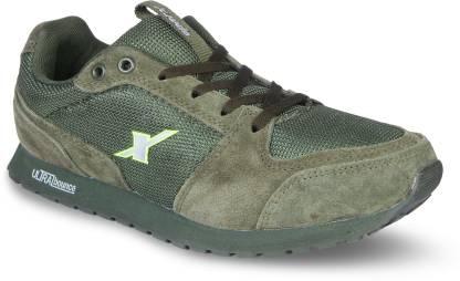 Sparx Men SM-438 Olive Fluorescent Green Walking Shoes For Men