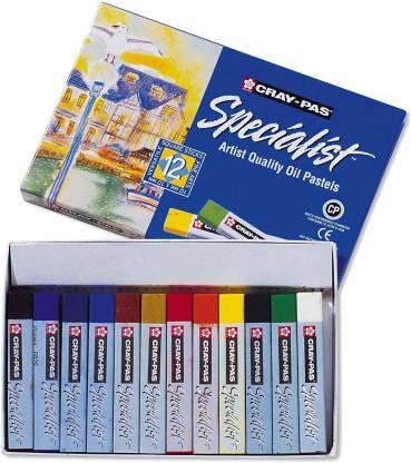 SAKURA Esp12 12-Piece Cray-Pas Specialist Oil Pastel Set -- 12 Color