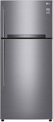 LG 546 L Frost Free Double Door 2 Star  2020  Refrigerator Shiny Steel, GN H702HLHU