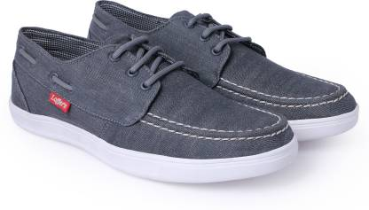 Shoe Alive Men Grey Demin Casual shoe Boat Shoes For Men