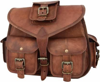 Ismail Exports Leather Castle Vintage Crossbody Messenger Bag Women Satchel Handbag Purse Waterproof Messenger Bag
