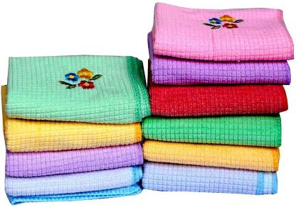 "Your's Favourite Flower Embroided Soft touch Cotton Women's Hankies [""Multicolor""] Handkerchief  (Pack of 10)"