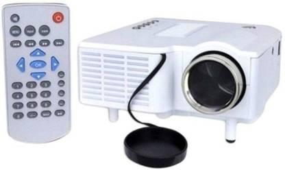 VNEXX UC28 Projector Mini Portable LED 400 Lumens 1080P HD Home Theater Cinema Projectors - White US Plug Portable Projector