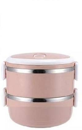 AKR STYLISH BPA FREE LEAK PROOF STAINLESS STEEL 2 LAYER LEAK PROOF LUNCH BOX 2 CONTAINER LUNCH BOX (1400 ml) 2 Containers Lunch Box
