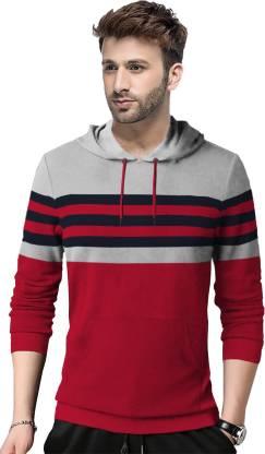 Tripr Full Sleeve Striped Men Sweatshirt