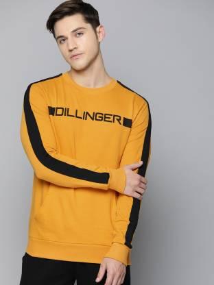 DILLINGER Full Sleeve Solid Men Sweatshirt