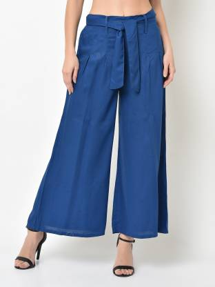 V2 Retail Limited Flared Women Blue Trousers