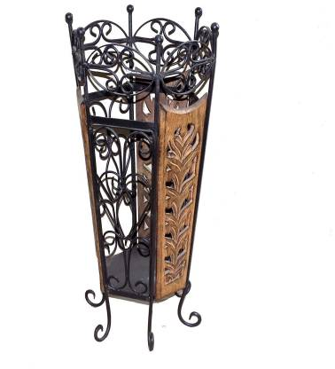 Kundi Solid Wood Umbrella Stand