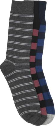 Men's & Women's Striped Ankle Length  (Pack of 3)