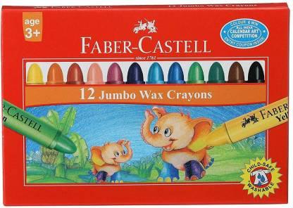FABER CASTELL Jumbo Wax Crayon