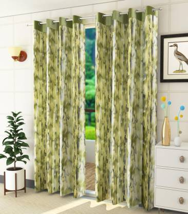 Rixon Global 213 cm (7 ft) Polyester Window Curtain (Pack Of 2)
