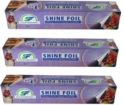 SF SHINE Fresh & Healthy Food Foil Paper 3 Kg ( Pack Of 3 ) Aluminium Foil