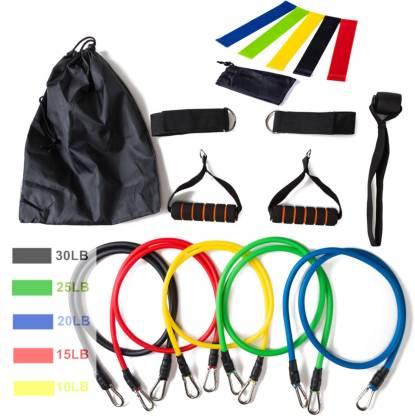 SIGNATRON 16 Pcs Resistance Bands Set Expander Yoga Exercise Fitness Rubber Tubes Band Gym & Fitness Kit