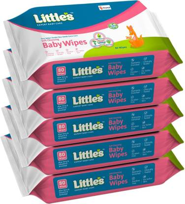 Little's Soft Cleansing Baby Wipes with Aloe Vera,