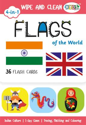 flags wipe clean activity flash cards for kids kyds play original