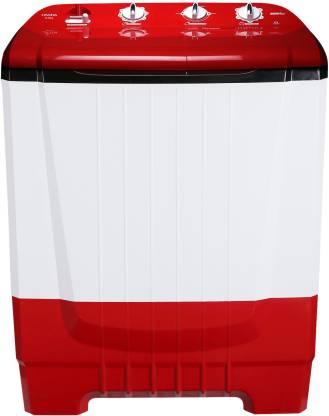Onida 8 kg Auto Scrubber Semi Automatic Top Load Red