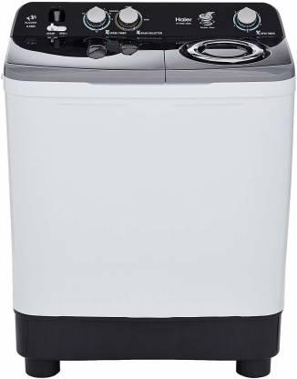 Haier 8.5 kg Semi Automatic Top Load Black, White, Grey
