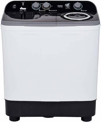 Haier 9.5 kg Semi Automatic Top Load Black, White, Grey(HTW95-186S)