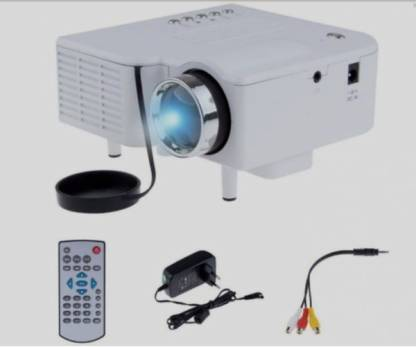 GKM GOLD UC28+ HD Mini LED for Home 40 lm LED Corded Portable Projector 48 lm LED Corded Portable Projector (White) Portable Projector