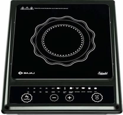 BAJAJ Splendid 1200-Watt Induction Cooker I Induction Cooktop (Black, Push Button) Induction Cooktop
