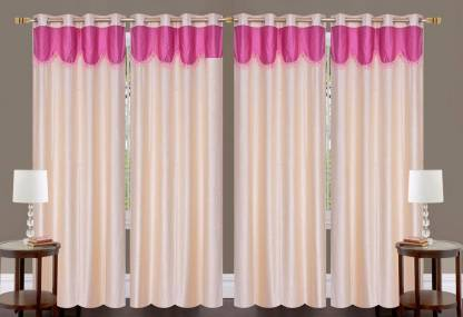 Sehbhagi 274 cm (9 ft) Polyester Long Door Curtain (Pack Of 4)