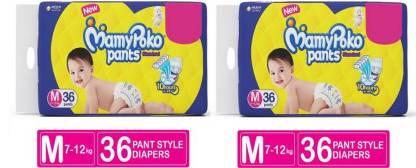 MamyPoko Absorb 10 Hrs (7-12 Kg) 36+36 Diaper Pants - M