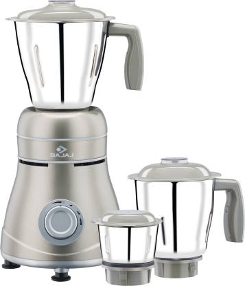 BAJAJ Ivora Silky Caramel 800 W Mixer Grinder (3 Jars, Grey)