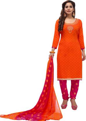 CG FASHION Synthetic Printed Salwar Suit Material