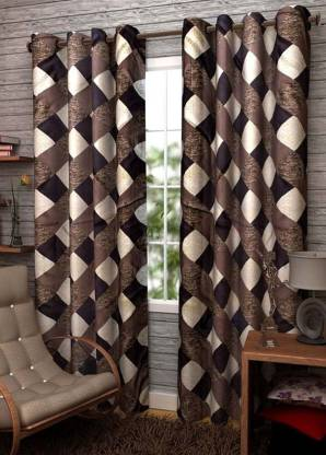 Sehbhagi 213.36 cm  7 ft  Polyester Door Curtain  Pack Of 2    Geometric, TKGFK 157013  Sehbhagi Curtains