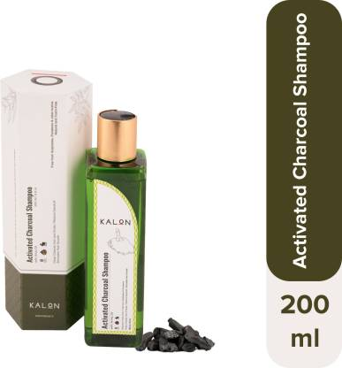 Kalon Activated Charcoal Shampoo with Amla Oil | For Dandruff & Hair Fall Control | Natural & Australia Certified Made Safe | Free from Sulphate and Parabens | For both Men & Women