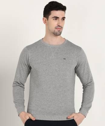 Van Heusen Sport Full Sleeve Solid Men Sweatshirt