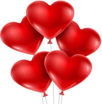 atul gift& toys Solid atul best red heart shape ballons 50 pcs Balloon