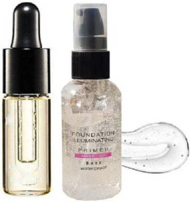 GRAYLIN SKIN ILLUMINATING MAKEUP BASE WATERPROOF PRIMER WITH Essential Oil COMBO