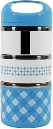 Luxafare 3 Layers Stainless Steel Thermal 3 Containers 3 Containers Lunch Box