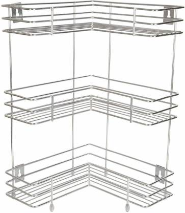Skyzone 3 Layer L Shaped Corner Stand Containers Kitchen Rack Price In India Buy Skyzone 3 Layer L Shaped Corner Stand Containers Kitchen Rack Online At Flipkart Com