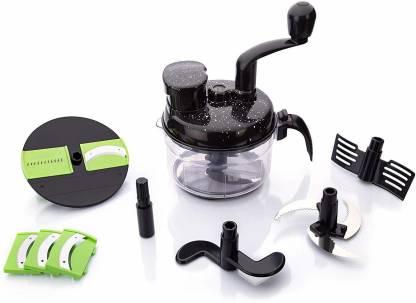 ATMAN Plastic 7 in 1 Turbo Food Processor, Atta Maker, Chopper, Chipser,  Slicer, Shredder with Vacuum for Kitchen (Black Colour) Vegetable Grater &  Slicer Price in India - Buy ATMAN Plastic 7
