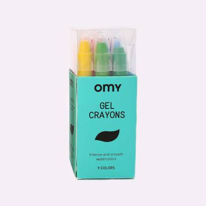 OMY Neon Gel Crayons, Box of 9, Intense & Smooth Colors