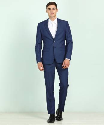 Park Avenue Two Piece Suit Self Design Men Suit