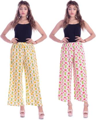 Regular Fit Women Multicolor Rayon Trousers