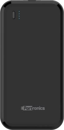 Portronics 10000 mAh Power Bank (POR-1014, POWER BRICK 10)  (Black, Lithium Polymer) thumbnail