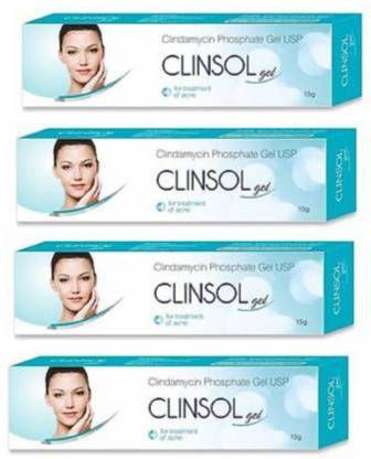 Leeford Clinsol Anti Acne Skin Gel For Oily Skin, Pimples 15g