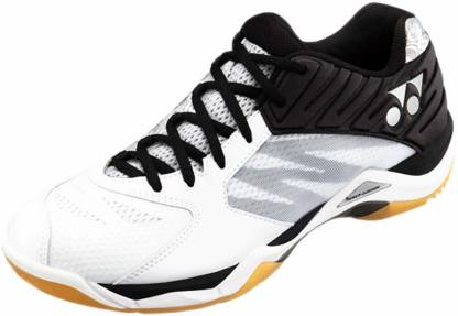 Comfort Z Men's Non-Marking Professional Badminton Shoes For Men(White)