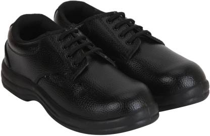 KITHH Safety shoe Steel Toe Synthetic Leather Safety Shoe  (Black, S1)